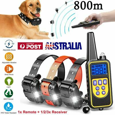 Auto Anti Bark Electric Remote Dog Training Collar Vibration & Sound Trainer AU
