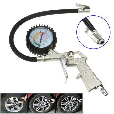 Tire Tyre Air Pressure Gauge Dial Meter Tester Tool 220 psi For Car Motorcycle