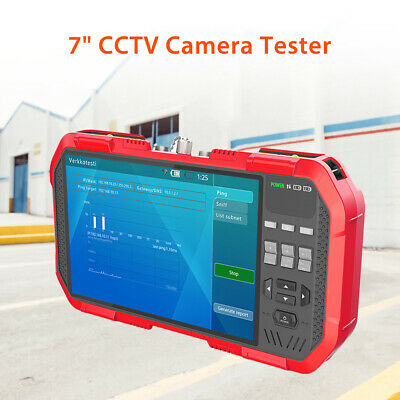 "DT-86A 7.0"" 8MP IP CCTV Camera Tester TVI CVI AHD Analog Combine Monitor PTZ POE"