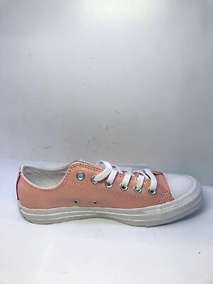 OCR* Converse All Star Junior Trainers Storm Pink White Leather Size UK 5