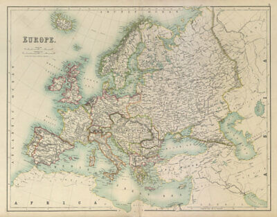 Europe. Austria-Hungary German Empire Turkey BARTHOLOMEW 1898 old antique map