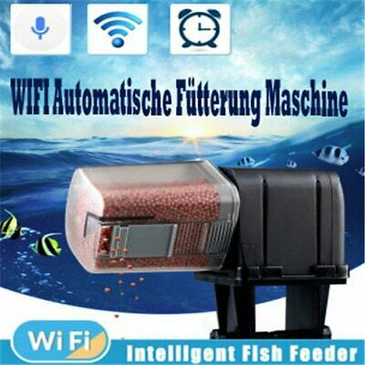 Digital WiFi LCD Automatic Aquarium Tank Pond Timer Dispenser Fish Food Feeder
