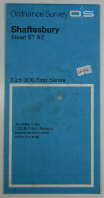 1983 Old Vintage OS Ordnance Survey 1:25000 First Series Map ST 82 Shaftesbury