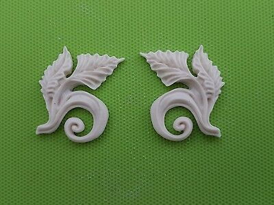 Decorative resin mouldings furniture applique shabby chic onlay block scrolls