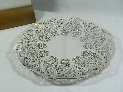 A Superb London Silver Plated  Filigree Cake Plate by Mappin & Webb's, excellent