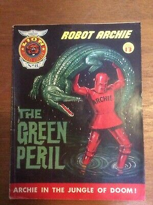 Lion Picture Library No. 8 Robot Archie The Green Peril Pocket Sized Comic