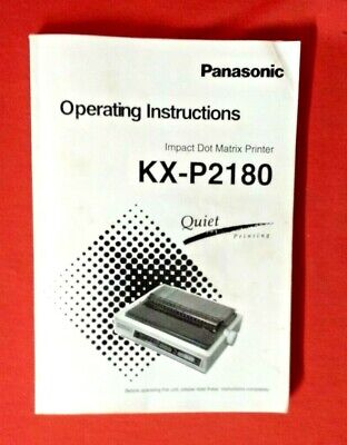 Panasonic KX-P2180 Dot Matrix Printer Operating Instructions
