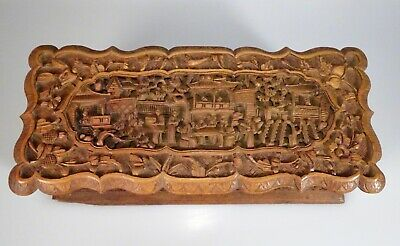 Chinese Antique Carved Sandalwood Box  -  56537