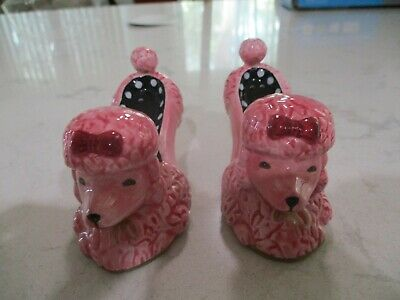 Pink Poodle Salt Pepper Dog W