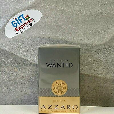 Azzaro Wanted Cologne for Men 3.4 oz EDT Spray New in Sealed Box