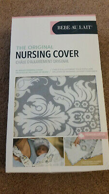 Bebe au Lait Original Nursing Cover Premium Cotton Chateau Silver