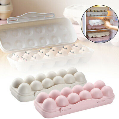 12 Grids Egg Storage Case Holder Box Container Tray For Freezer & Fridge Snap-in