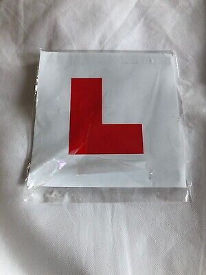 Tesco 2 X MAGNETIC LEGAL L PLATES STICKER LEARNER BIKE CAR LORRY MOTORCYCLE