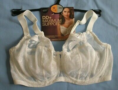 Bra 32DD White Lace Underwired Non Padded by Marks & Spencer BNWT