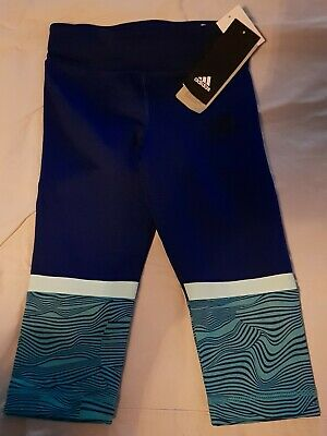 Adidas Girl's 3/4 Tight leggings, keeping body dry with climalite FREE TRACKING