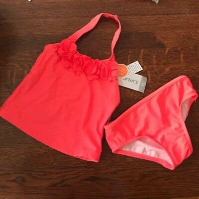 Carter's Baby Girls' lined Two Piece Halter Rosette Tankini, 6, NWT
