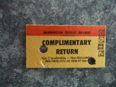 Mornington Tourist Railway Train Ticket - Used Condition