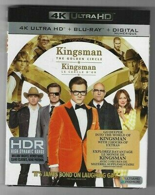 Sealed 4k ULTRA HD + Blu-Ray + Digital - KINGSMAN THE GOLDEN CIRCLE Also French