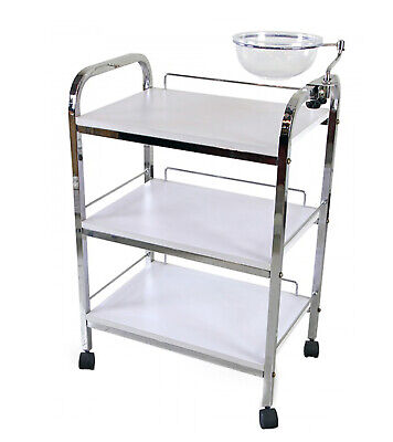 3-level stainless spa beauty salon trolley cart with bowl BTS-959