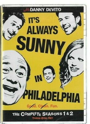 Sealed NEW DVD - TV Series -  IT'S ALWAYS SUNNY IN PHILADELPHIA Season 1 AND 2