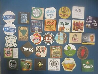 31 different AUSTRALIAN Brewery Issue, BEER & CIDER COASTERS collectable