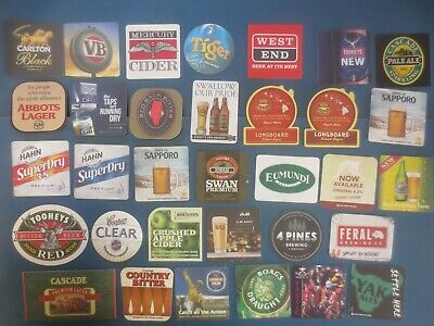 33 different AUSTRALIAN Brewery Issue, BEER & CIDER COASTERS collectable