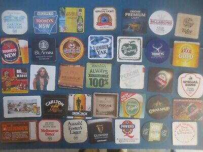 35 different AUSTRALIAN Brewery Issue, BEER & CIDER COASTERS collectable