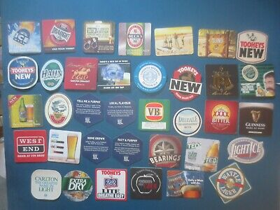 36 different AUSTRALIAN Brewery Issue, BEER & CIDER COASTERS collectable