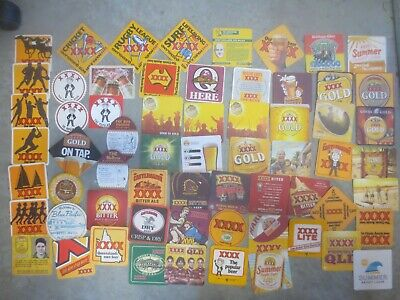 62 different CASTLEMAINE XXXX Brewery Issue, BEER  COASTERS collectable