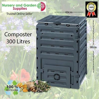 300L Compost Bin Aerated Household Recycling Garden Composter Eco-PREMIUM