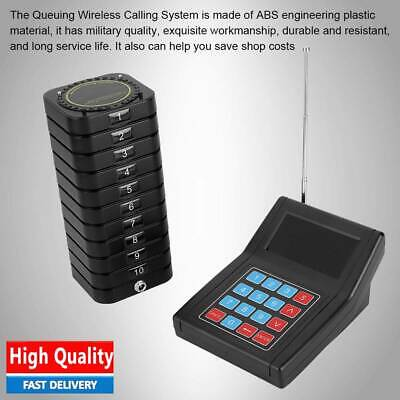Wireless Page Queuing System:1xTransmitter+10xCoaster Pagers for Restaurant New