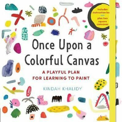 NEW Once Upon a Colorful Canvas By Kindah Khalidy Hardcover Free Shipping