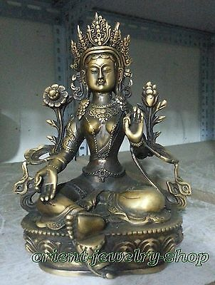 Dynasty China Old Bronze Statue Unique Vintage Buddha Lucky statue