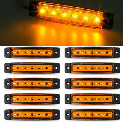 Super Bright 6LED Car Side Marker Light 10pcs Trailer Truck Clearance Lamp Light