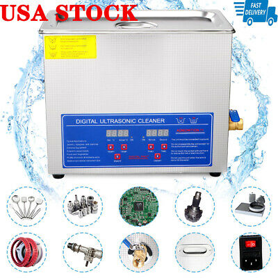 Hot New 6L Ultrasonic Cleaner Stainless Steel Industry Heated Heater w/Timer USA