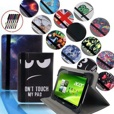 """Smart Folio Leather Rotating Stand Cover Case For 7"""" 8"""" 10"""" Acer Iconia One"""