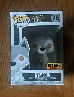 Funko POP! NYMERIA #76 GAME OF THRONES Hot TOPIC Exclusive Limited NEW PROTECTOR