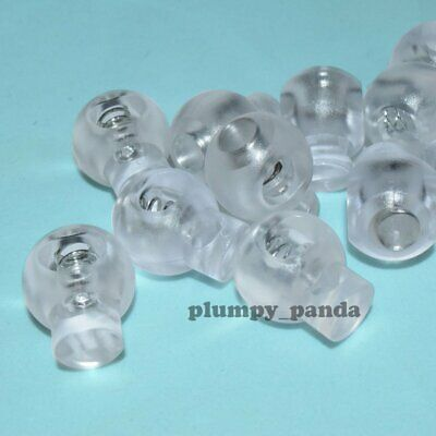 "Clear Ball ( Hole = 5/16"") Round Cordlock Cord Locks Toggles Barrels Stopper End"