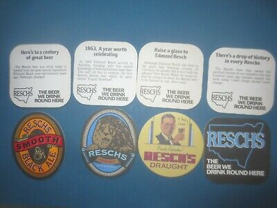 8 different RESCH,S Beer / Brewery ,New South Wales Issue  COASTERS