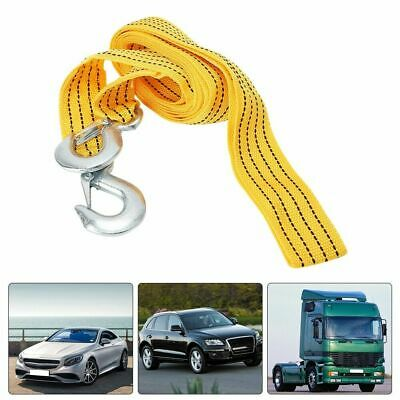 Car Tow Rope 3 Meters High Strength Towing Rope Emergency Traction Ropes Yellow