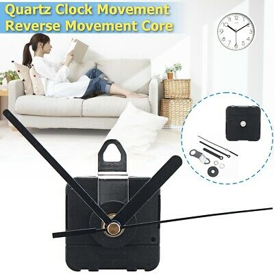 Backward Reverse Replacement Quartz Clock Movement Motor Mechanism DIY Kit