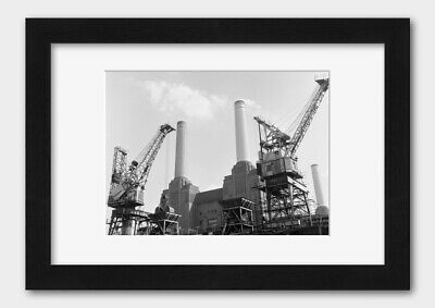 Battersea Power Station and cranes.21st August 1971 Poster