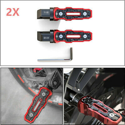 1 Pair CNC Rear Motorcycle Motorbike Anti-Skid Widened Foot Rest Pedal Anodized