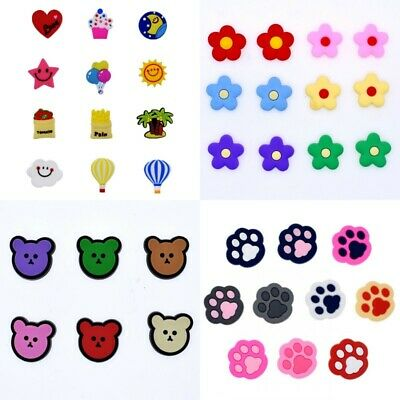 Summer Promotion Gift  Flowers Bears Paw Prints Mixed Shoe Charms Fit Wristbands