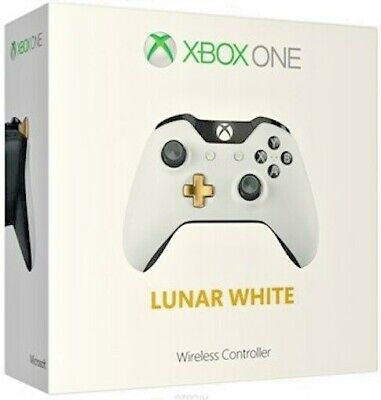 Xbox One Wireless Controller - Lunar White - Limited Edition Retail Boxed.