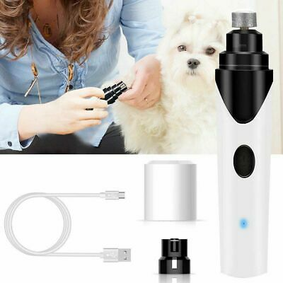 USB Charging Pet Nail Clipper Dog Cat Paws Nail Grinder Grooming Trimmer Tools