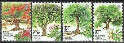 Singapore 2002 Heritage Trees Care For Nature Series Comp. Set Of 4 Stamps Mint