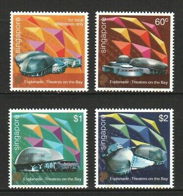 Singapore 2002 Opening Of Esplanade Performing Arts Centre Set Of 4 Stamps Mint