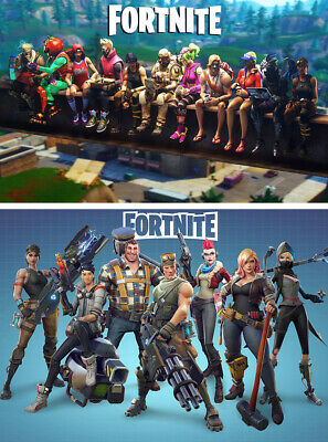 2PCS a lot Fortnite Game Wall Poster Prints  Size 12x19inch 17x26inch 24x38inch