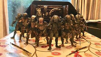 NECA Predator 2 Lost Tribe Bundle Lot AND Trophy Wall, Ultimate City Hunter Rare